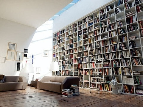 Convoy #interior #design #books #couches #bookshelf