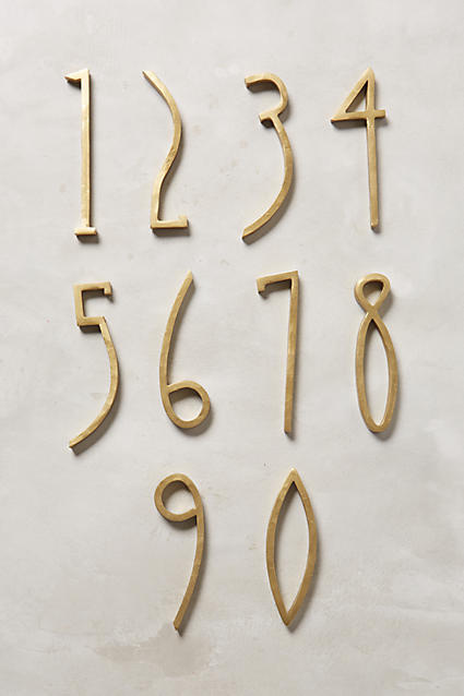 Hand-Welded House Number, Anthropologie