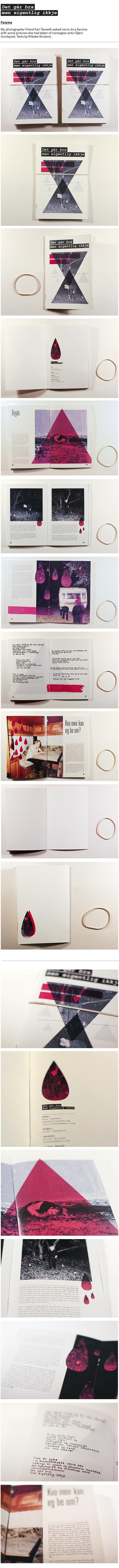 Det går bra – fanzine on Behancehttp://www.behance.net/gallery/Det-gAr-bra-a-fanzine/397680 #zine