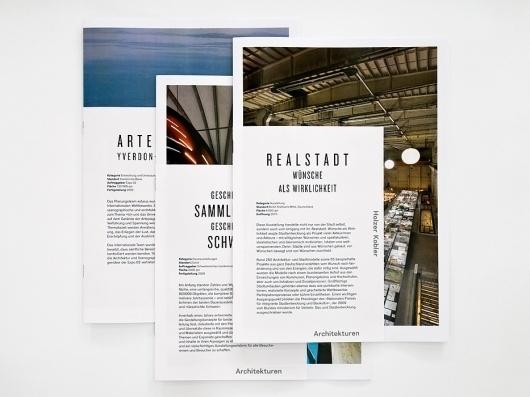 Holzer Kobler Architekturen : Studio Laucke Siebein #type #booklet #typography