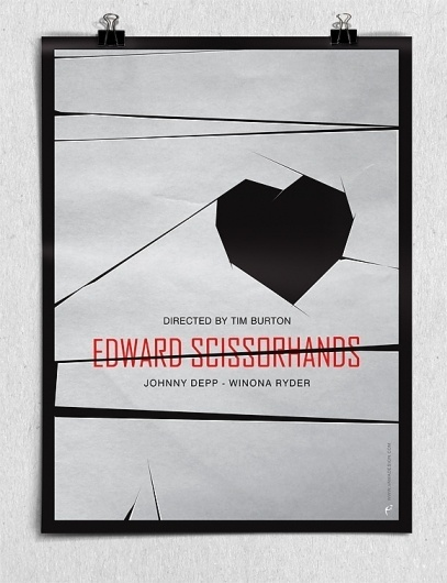 Edward Scissorhands #movie #edward #magoulas #scissorhands #poster #vasilis #vamadesign