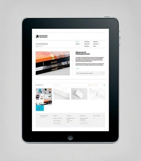 Göteborgstryckeriet on the Behance Network #sweden #gteborg #ipad #sverige #app