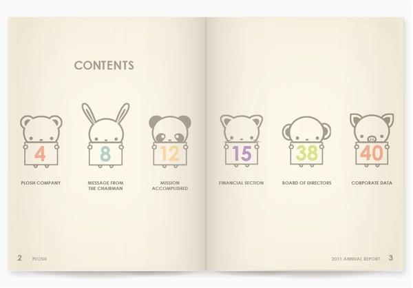 PLOSH ANNUAL REPORT on Behance #branding #print #annual #illustration #identity #report #kids #children