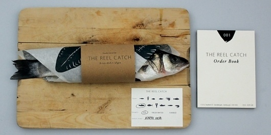 Student Spotlight: The ReelCatch - TheDieline.com - Package Design Blog #white #rustic #reel #fish #black #system #natural #identity #catch #and