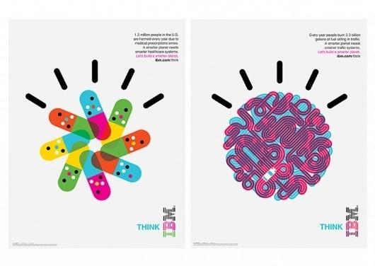Office | Work | IBM / Designing a Smarter Planet #colourful #illustration