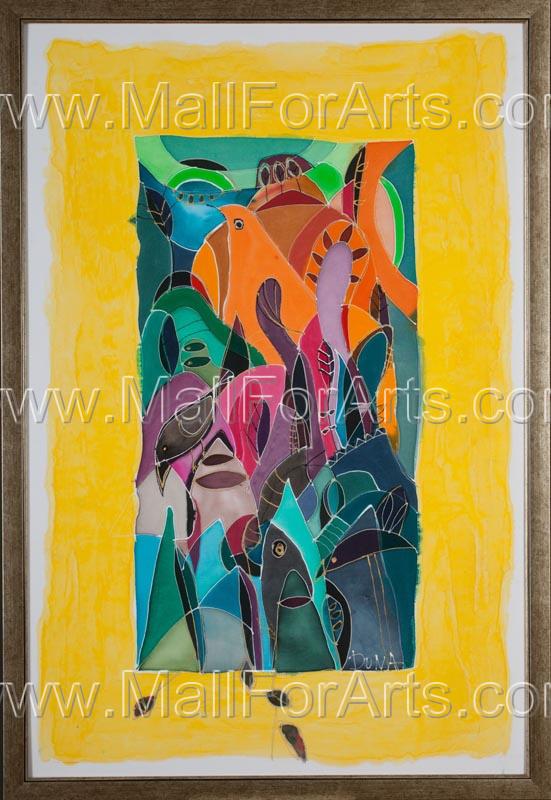 My Cuba silk painting #art #painting #silk