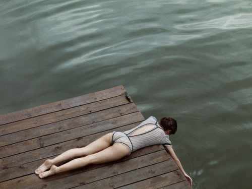☾ #lingerie #water #woman #photo