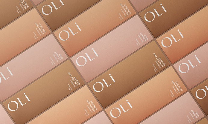 Oli cosmetic branding - Mindsparkle Mag Anastasia Dunaeva designed Oli – the new tanning oils line, so they wanted to create catchy brand positioning in minds of new customers. #logo #packaging #identity #branding #design #color #photography #graphic #design #gallery #blog #project #mindsparkle #mag #beautiful #portfolio #designer