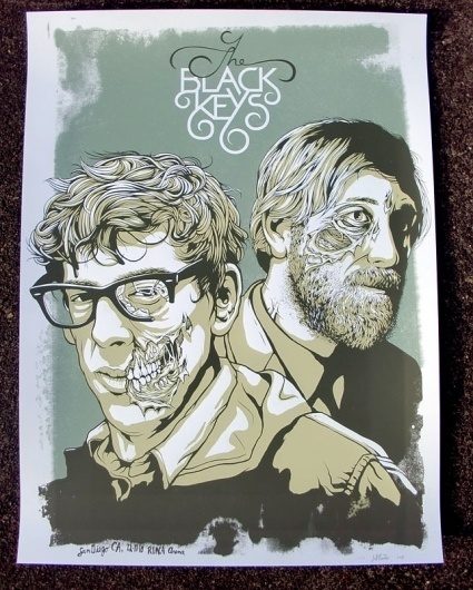 OMG Posters! » Archive » The Black Keys Poster by Jeff Proctor (Onsale Info) #texture #illustration #poster #grunge #band