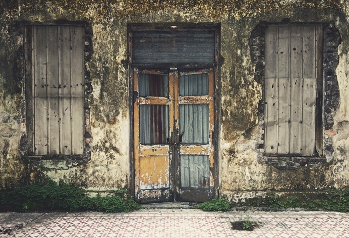 Forgotten Home by Igor Ovsyannykov on 500px #front #door #home #abandoned #photography #spooky #beautiful #windows