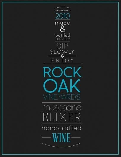 Rock Oak Vineyards wine label on the Behance Network #label #wine #typography