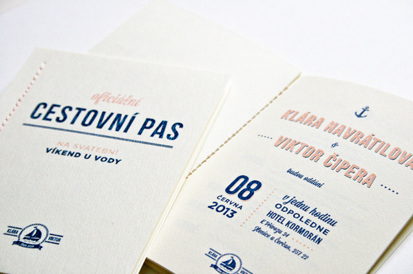 Navy Wedding invite #invite #invitation #stationery #navy #passport #wedding #nautical