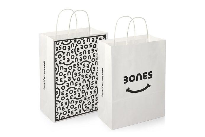 Bones - Burgess Studio #bag #shopping bag #print