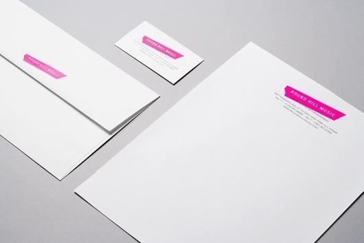 Established NYC – SI Special   September Industry #pink #letterhead #branding