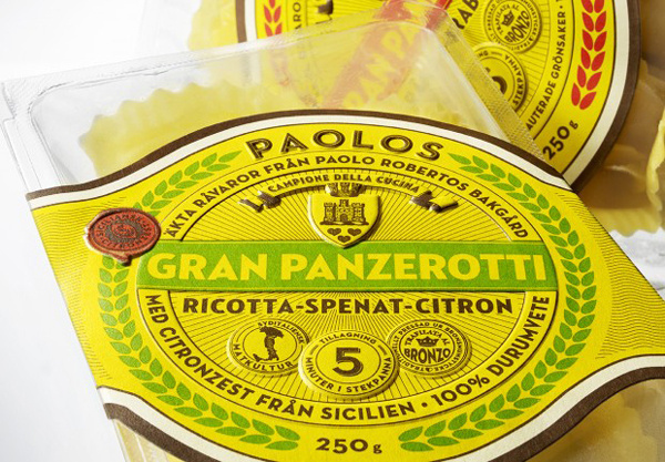 Italian packaging design for Paolo Robertos Italian packaging design for Paolo Robertos