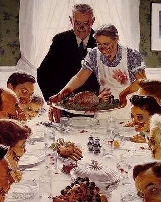 the great humongous: Dinner Party of the Week #dinner #illustration #zombies #party