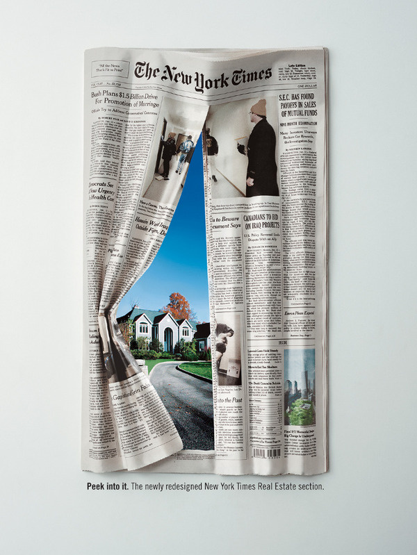New York Times Real Estate #curtain #ordinary #newspaper #texture #photography #real #window #estate #housing