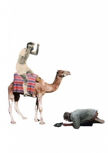 TIM KARLSSON #man #camel #collage #hobo