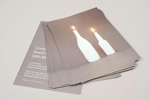 Edward Heal #print #candles #birthday #invitation