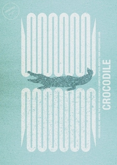 ART&RAT #crocodile #print #design #art #blue #fine