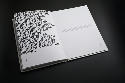 Best Typeface Din Layout Book Tribute Images On Designspiration