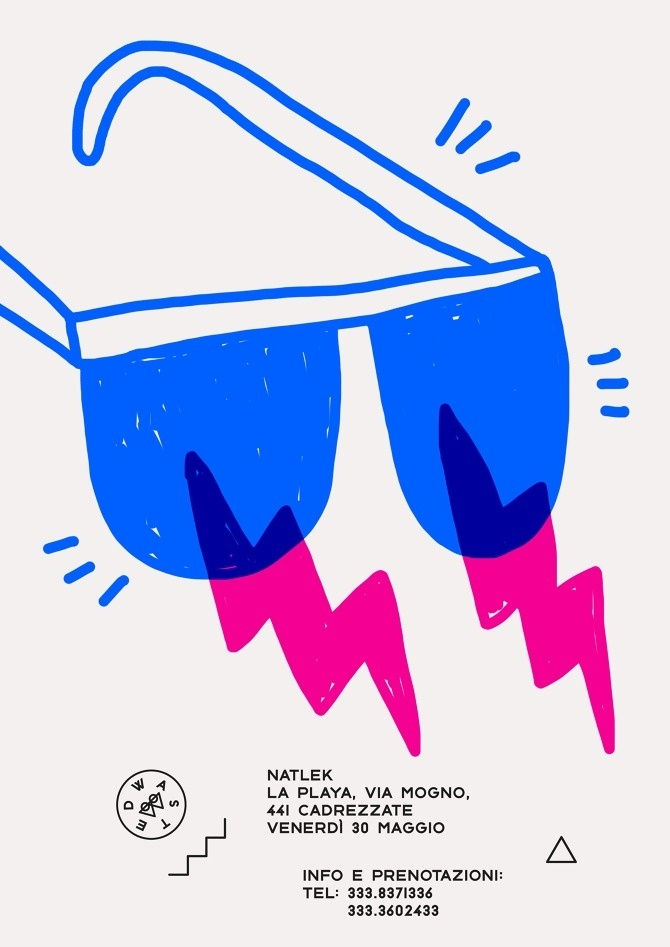 WASTED - Marco Oggian #rgb #events #branding #draw #flyer #color #night #illustration #identity #pen #poster #logo #postcard #pencil #party