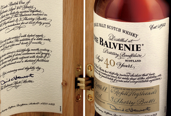 The Balvenie Forty whiskey packaging #packaging #wood #whiskey