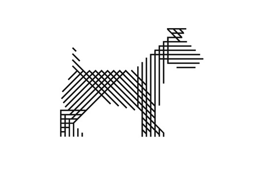 mind design #logo #lines #dog