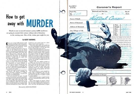 Google Reader (225) #murder #illustration #louis #glanzman