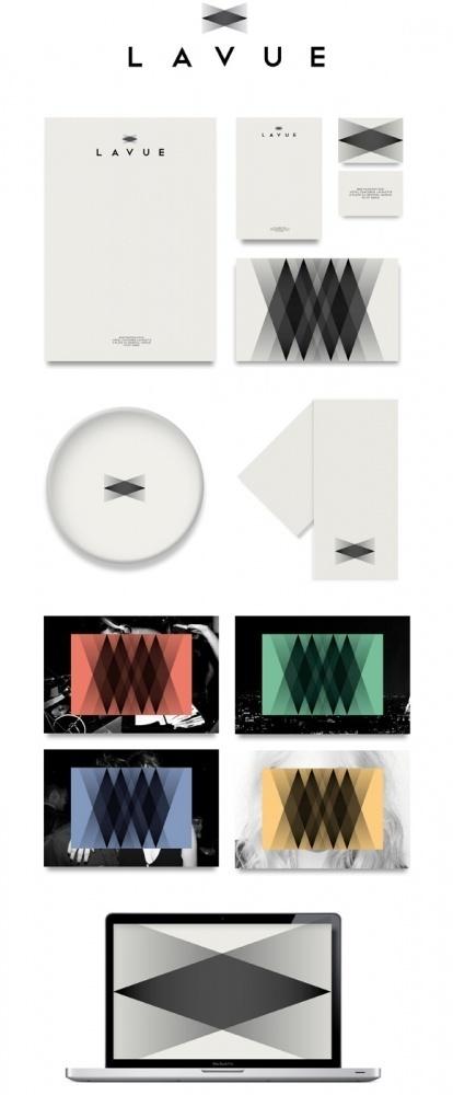 La Vue | New Grids #logo #design #identity