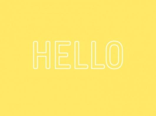 Hello Portland #type #print #hello