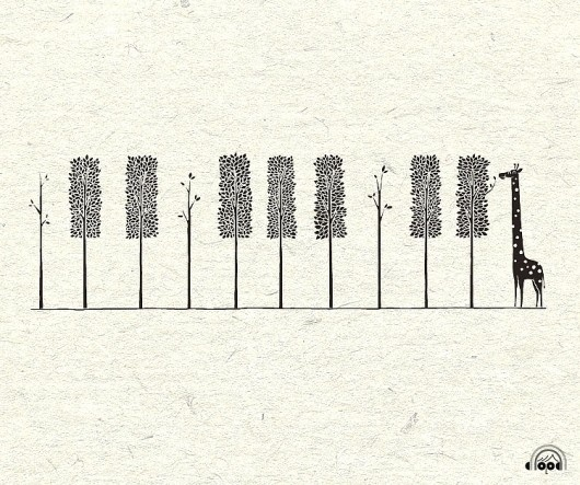 Design / ... #giraffe #piano #tree #design #illustration #cute #keys