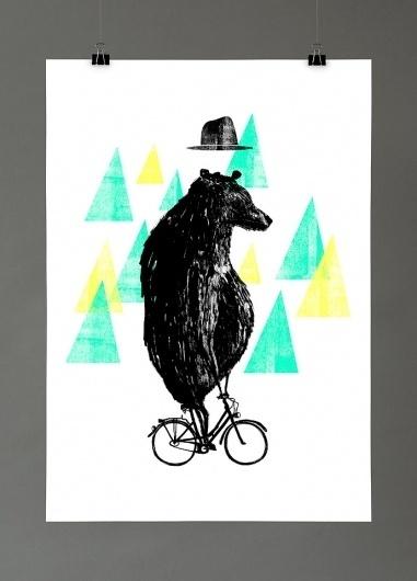Maria Fischer · Portfolio · Illustration #fischer #illustration #maria #bike #bear