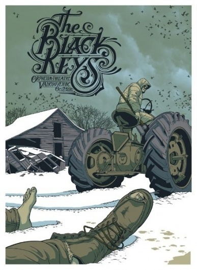 GigPosters.com - Black Keys, The #illustration #gig #poster