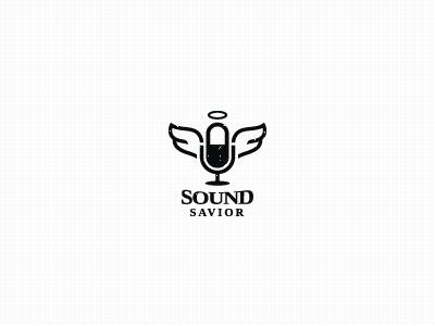 Dribbble - Sound Saviour(WIP) by bas #type #sound #wings #logo