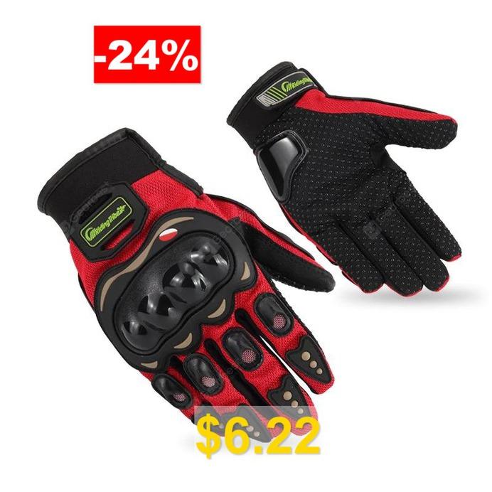PRO #- #BIKER #01G #Motorcycle #Off #Road #Racing #Anti-skid #Gloves #- #RED