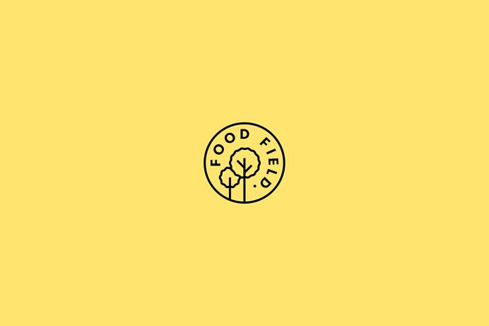 The Food Field store branding corporate design san pedro mexico by parametro studio business card minimal beautiful organic eat shop station