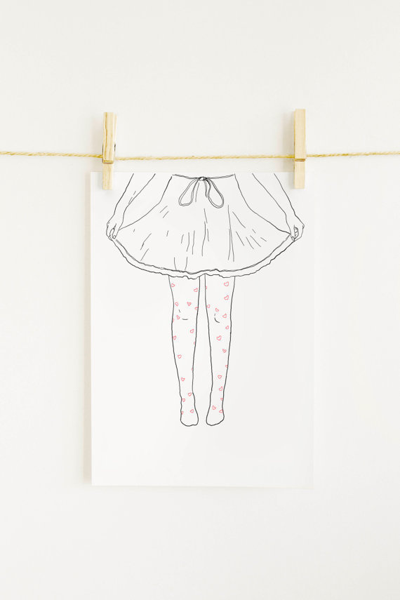 20%OFF Drawing_Hearts_inkjet print #illustration #etsy