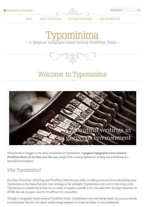 20 Free Stylist Typographic Wordpress Themes #wordpress #theme #typography