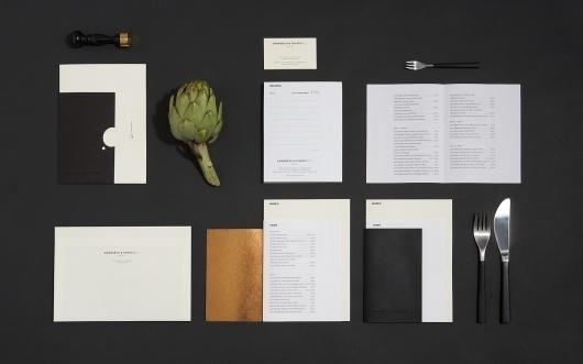 Grønbech og Churchill | Re-public / Bench.li #white #and #black #restaurant #system #stationery #letterhead