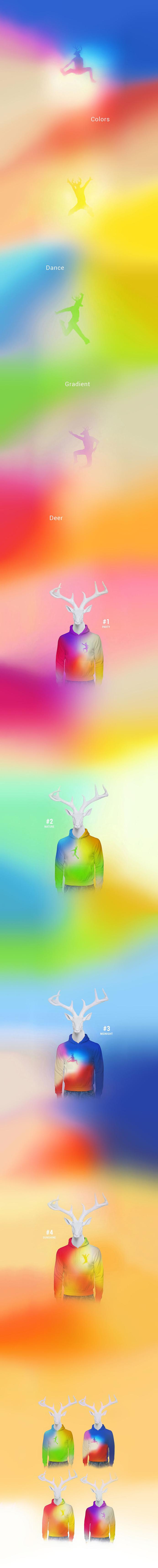 Psychedelic Deer Art Direction, Fashion, Illustration