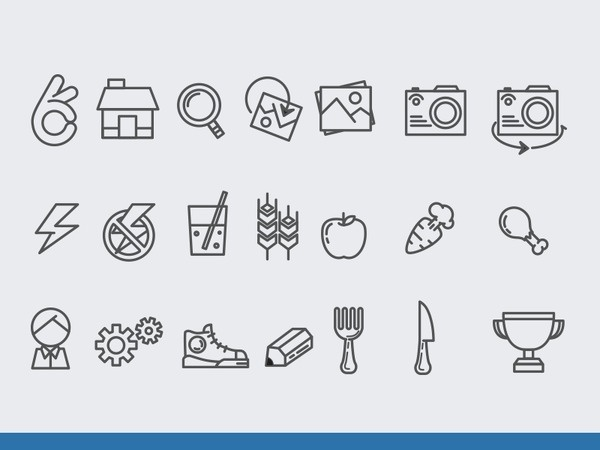 Healthy livin' icons #icons