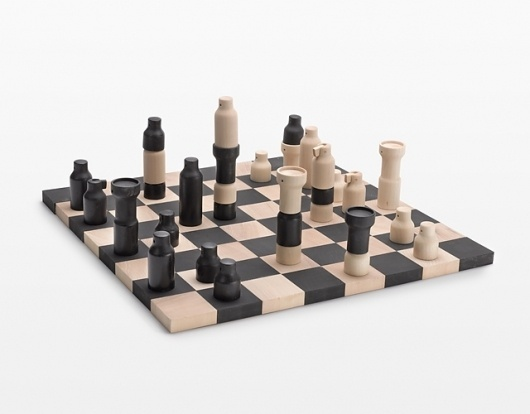 Democratic Chess - trattoria utopia 2011 - COLLECTION - POSTFOSSIL #chess #democratic #board #design #wood