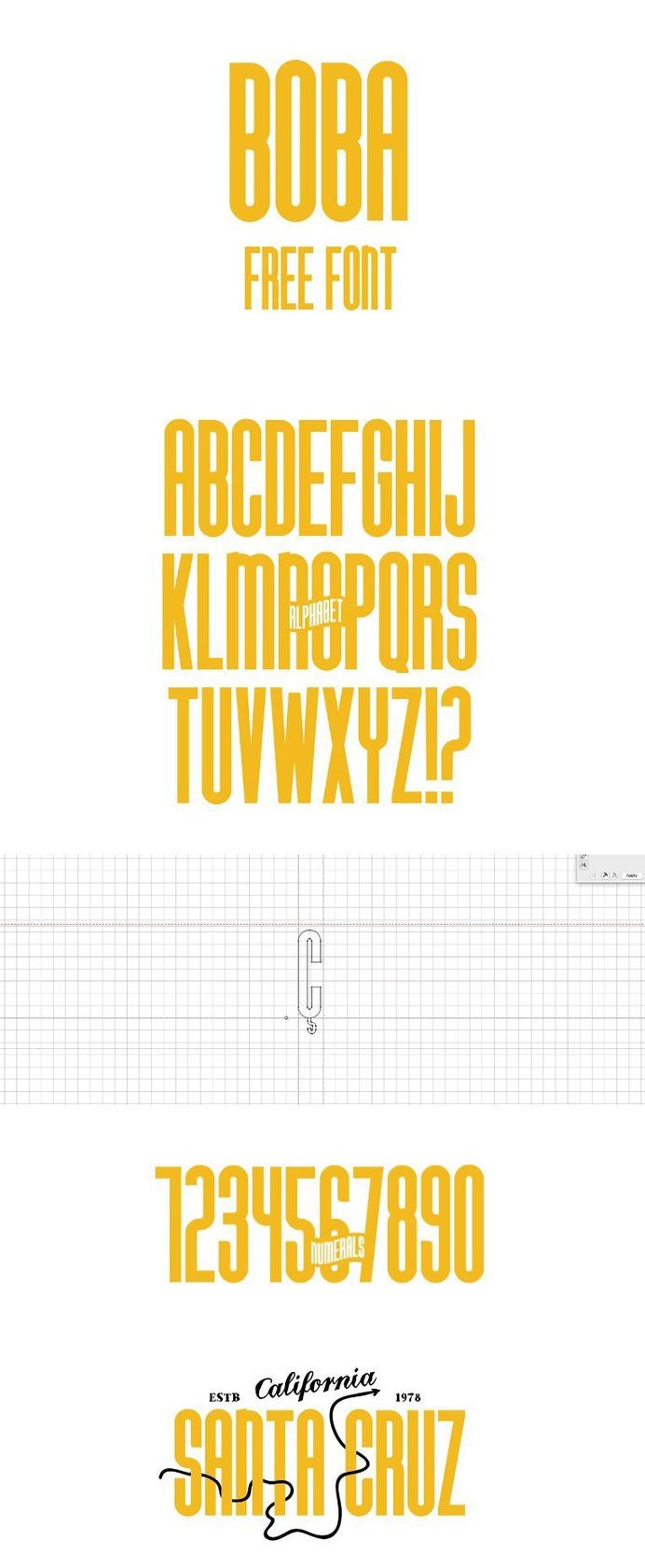 Boba Free Display Font – Free Fonts