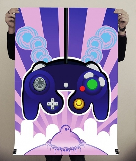 Padz Posters on the Behance Network #print #poster #game #alcinoo #console