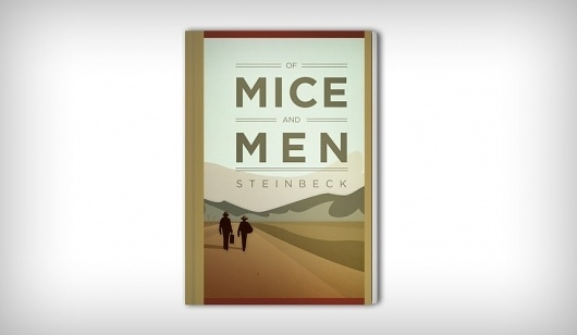 Brandon Ehrlich #steinbeck #of #book #cover #illustration #men #mice #and