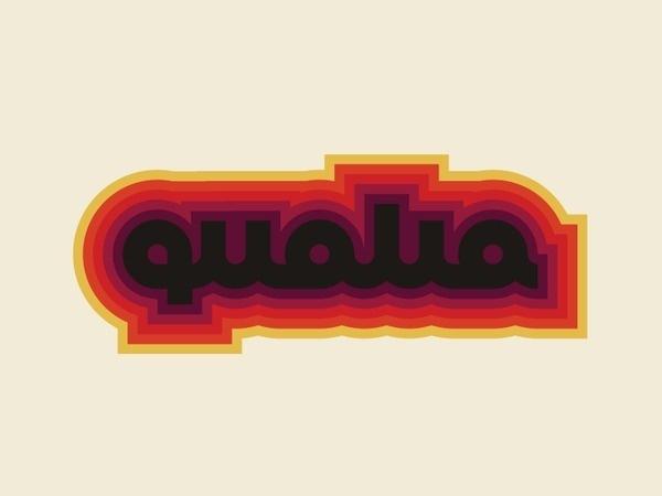 Qualia_pres_logo #logotype #old #lettering #lines #animated #animation #1980 #id #dynamic #stripes #color #retro #identity #gif #logo #qualia #1960 #style #1970