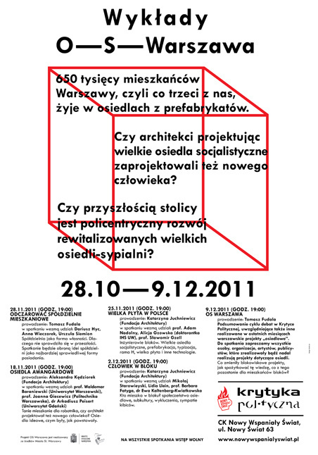 O S Warszawa #design #poster