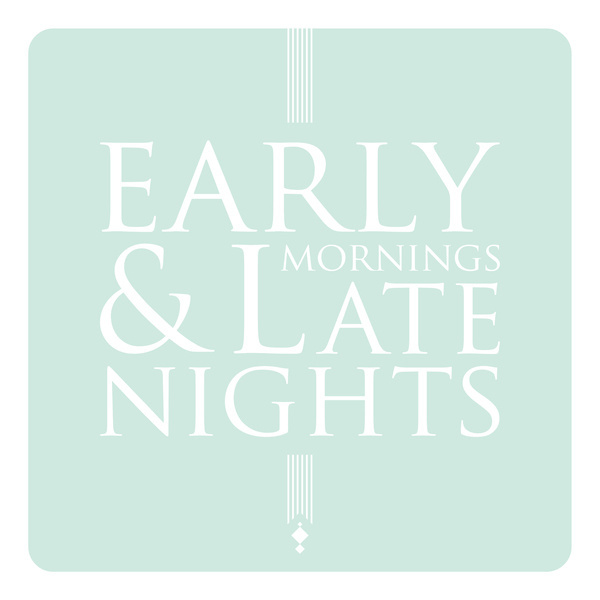 Early Mornings & Late Nights. #design #lines #decal #typography
