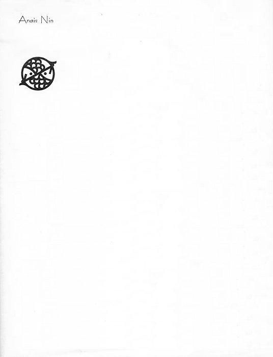 Anaïs Nin, 1979 | Source #icon #letterhead #minimal